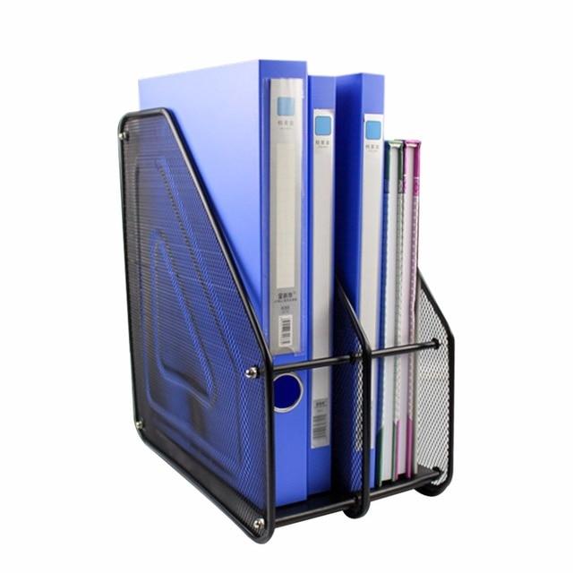 Metal Mesh Desktop Basket Resume File Folder Holders Detachable Magazine  Document Display Storage Organizer With 2  Resume Holders