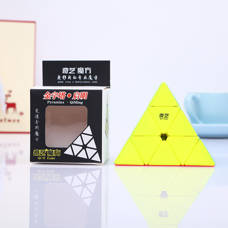 Qiyi 3*3*3 Qiming  Pyramid Speed Magic Cube Professional Magic Cube Puzzles Colorful Educational Toys For Children