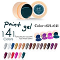 #50618 de la venta caliente del arte del clavo canni uv led 141 colores 5 ml pintura de uñas profesional kit de gel de color, 141 color de uv gel laca de uñas