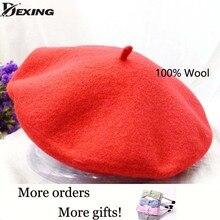 100% real wool Beret Vintage Warm spring Winter Women Beret French Artist Beanie Hat beret femme  Girl Gift