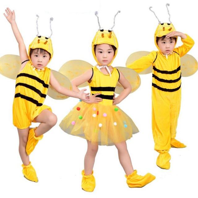 2018 Boy Girl Yellow Bee Costume Kids Children Animals Cosplay Costumes Halloween Carnival Party Supplies  sc 1 st  AliExpress.com & 2018 Boy Girl Yellow Bee Costume Kids Children Animals Cosplay ...