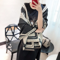 Brand Fashion Black Pashmina Winter Scarf Women's Luxury Blanket Poncho 2019 New Warmer Soft Cashmere Large Shawl 180*70cm