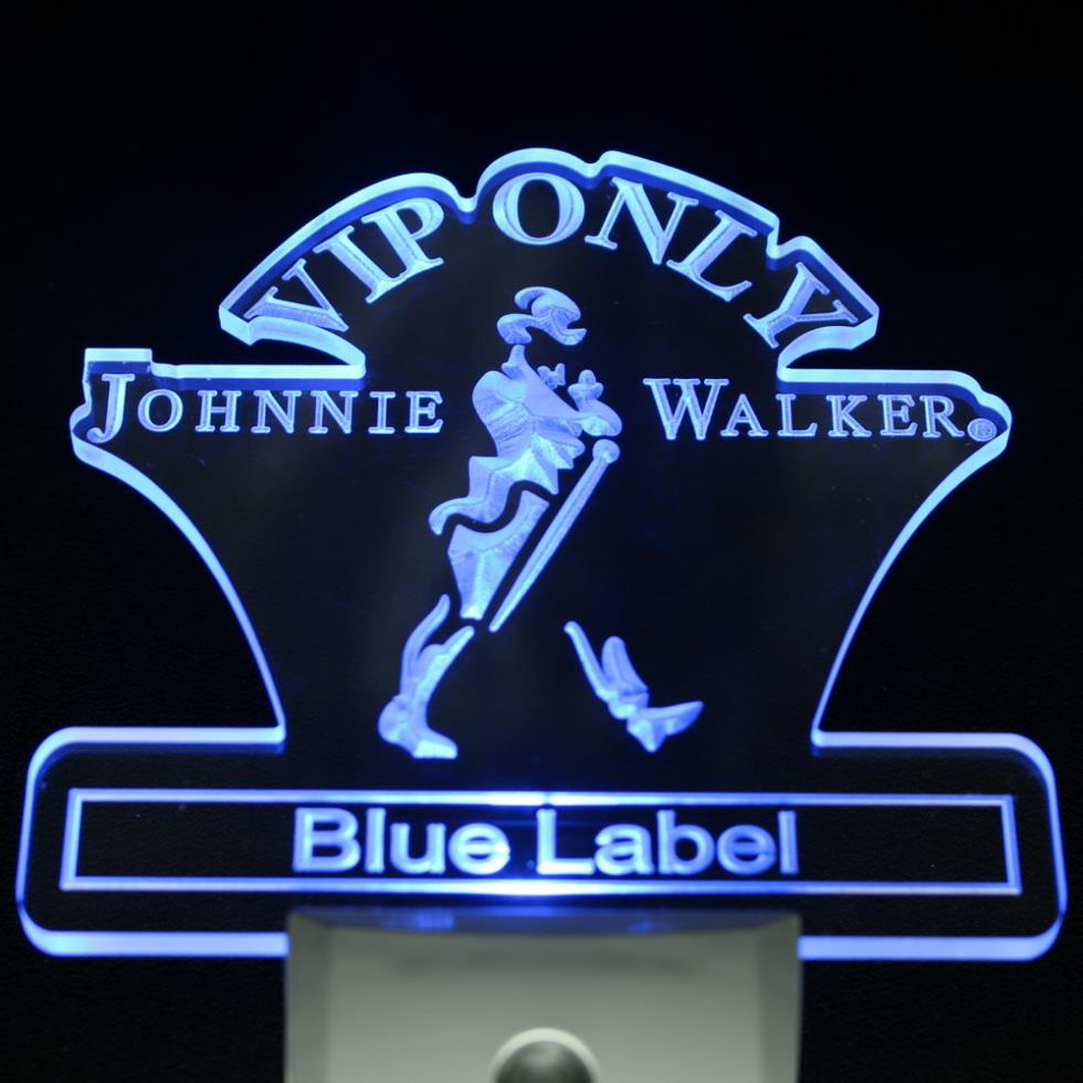 ws0019 VIP Only Johnnie Walker Blue Label Day/ Night Sensor Led Night Light Sign