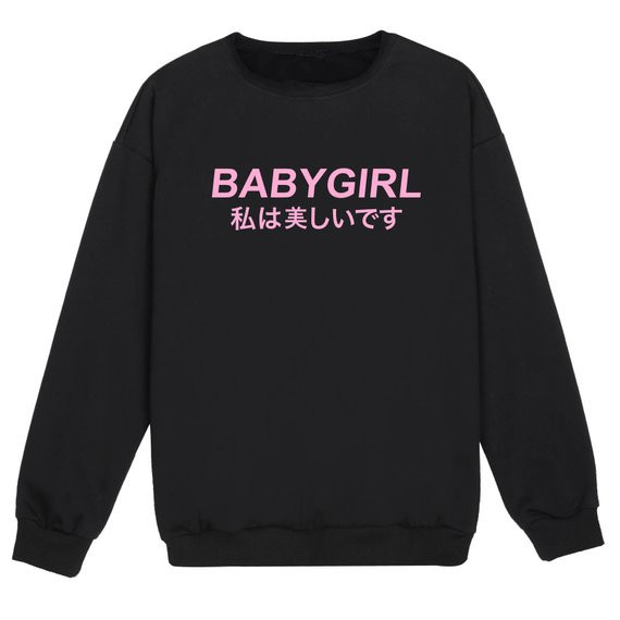 2e4b23e11367 Sugarbaby Babygirl Harajuku Jumper Womens Fun Tumblr Hipster Swag Fashion  Grunge Goth Top Cute Harajuku Sassy