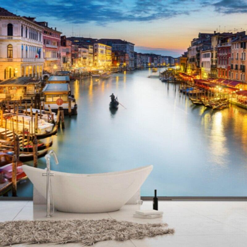 Custom Photo Wallpaper 3D Wall Murals Wallpaper For Living Room Bedroom Background Walls 3D Home Decor Wallpaper In Venice City