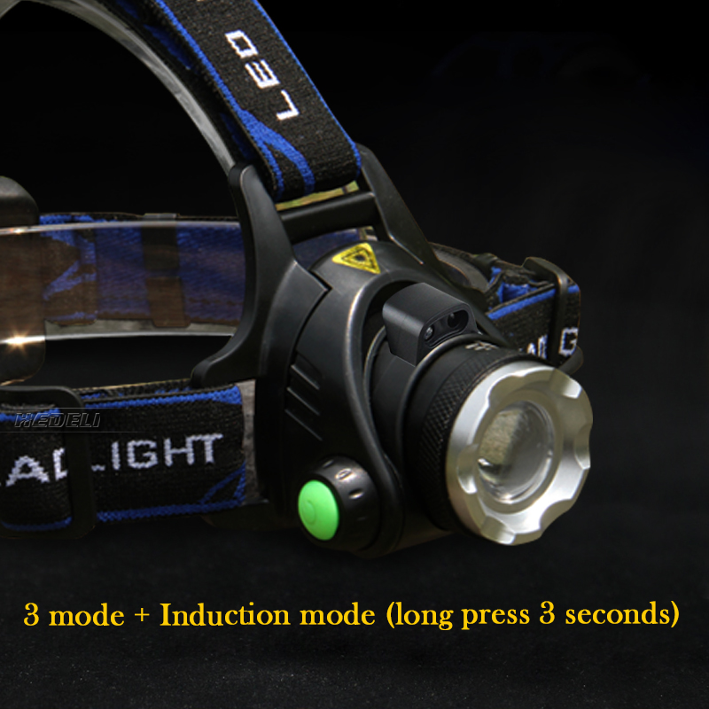 cheapest usb sensor led headlight cree headlamp xm l t6 xm-l2 waterproof zoom head lamp 18650 rechargeable battery flashlight head torch
