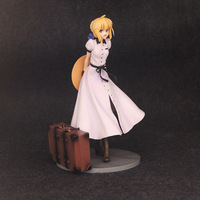 Vogue Saber Alter Arutoria Pendoragon Game Anime Fate State Night Statue British Travelogue Style Lovely Figure Model Toys