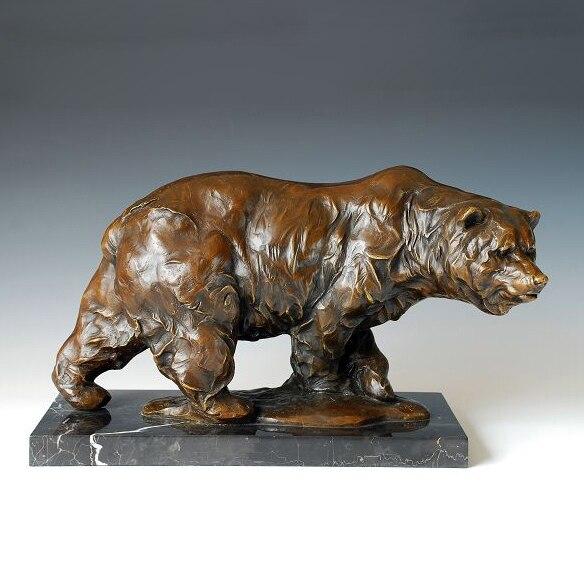 ATLIE BRONZES Abstract Sculpture Big Brown Bear Bronze Bears Statue  European Christmas Gifts Garden Statues