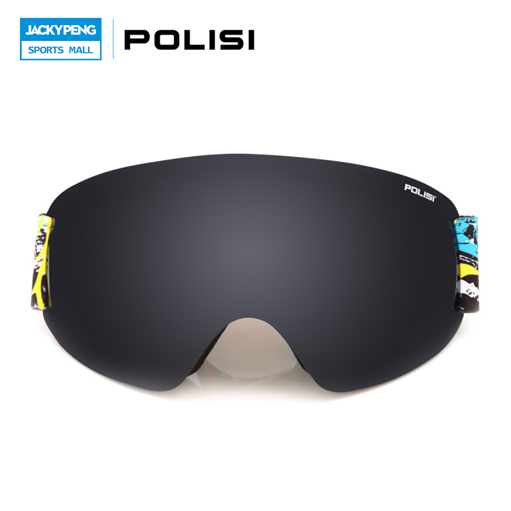 POLISI UV Protection Anti-Fog Winter Snowboard Skiing Glasses Double Layer Lens Gafas Motocross Off Road Goggles  Sports Eyewear polisi brand new designed anti fog cycling glasses sports eyewear polarized glasses bicycle goggles bike sunglasses 5 lenses