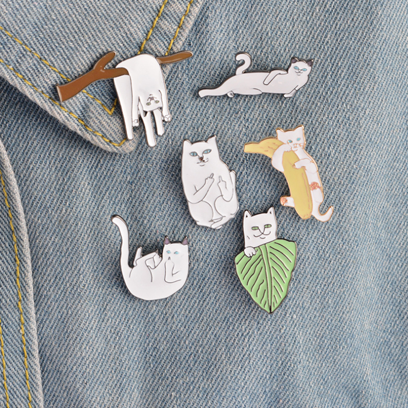 1PC Hot Sale Brooch Cartoon Enamel Diverse Delicate Shirt Label Collar Pins Badge