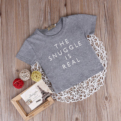 34b860d0f Newborn Kid Summer Clothes The Snuggle Is Real Baby Boys Girls Short Sleeve  T Shirts Outfit Tops Tee-in Tees from Mother & Kids on Aliexpress.com |  Alibaba ...