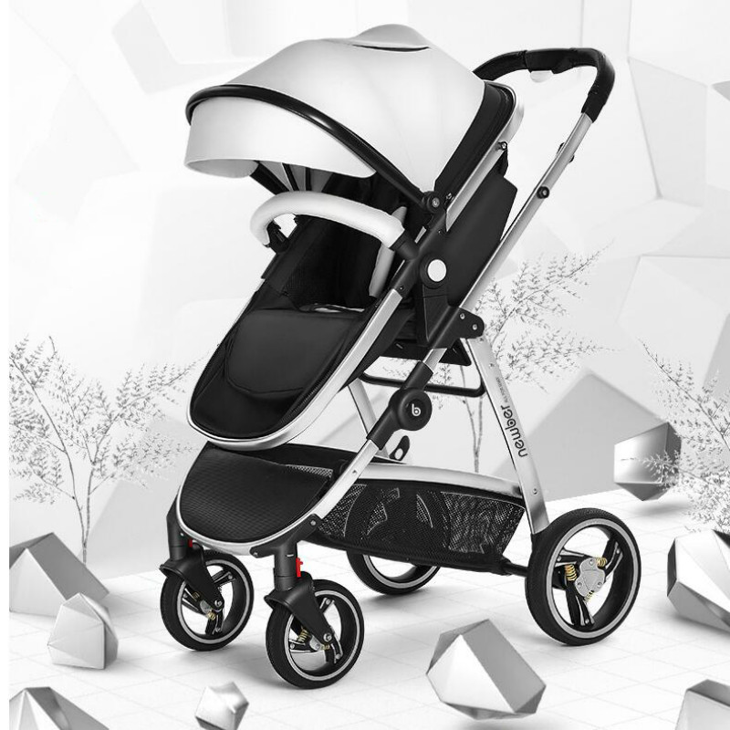 High Landscape Baby Stroller 3 in 1 with Car Seat For Newborn Light Weight Baby Carriages Can Sit Lie Folding BB Cart By Plane все цены