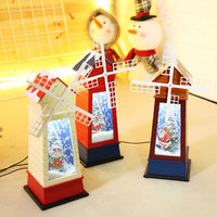 New Christmas Decorations for Home Santa Claus Musical Windmill Toy Glass Ball with Snow New Year's Toys for Children Brinquedos