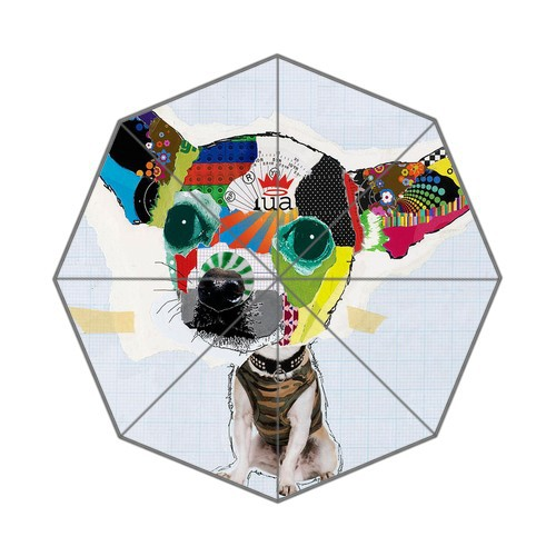 ded6e98d0 Funky Cool Pasteup Art Chihuahua Dog Fashion Foldable Umbrellas! 43.5 inch  Wide! Perfect as Gift! Accept Customized!
