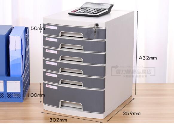 Оптовая продажа Deli 9773 шкаф для файлов Пятиярусный жесткий пластиковый шкаф для документов A4 коробка для отделки файлов классический художе... - 3