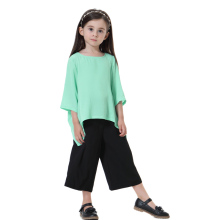 Arab Girls Clothes Muslim Two-pieces Sets Children`s Tops and pants