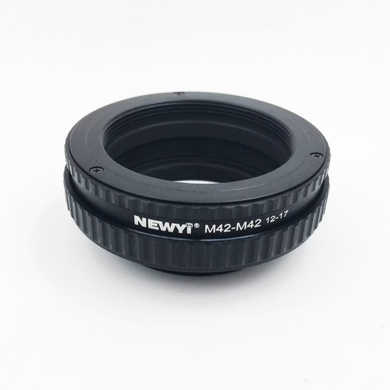 Image 2 - NEWYI M42 to M42 Focusing Helicoid Ring Adapter 12   17mm Macro Extension Tube camera Lens Converter Adapter Ring-in Lens Adapter from Consumer Electronics