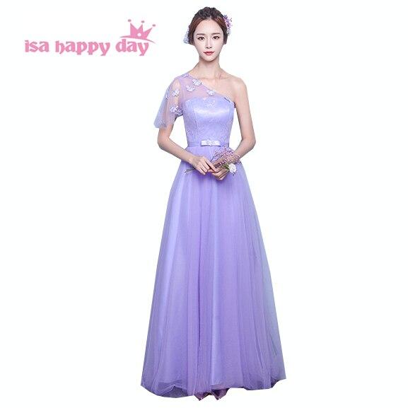 507713e3 robe longue soiree 2019 fashion lady womens sexy light purple one strap  floor length women's evening
