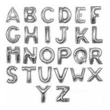 16 inch Silver A Z Optional Letter font b Balloon b font Aluminum Foil Helium font