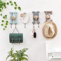 American Letter/Number Wall Hook Decorative Coat Hanger Key Holder Wall Wooden Hooks Mounted Door Hanger Hook Clothes