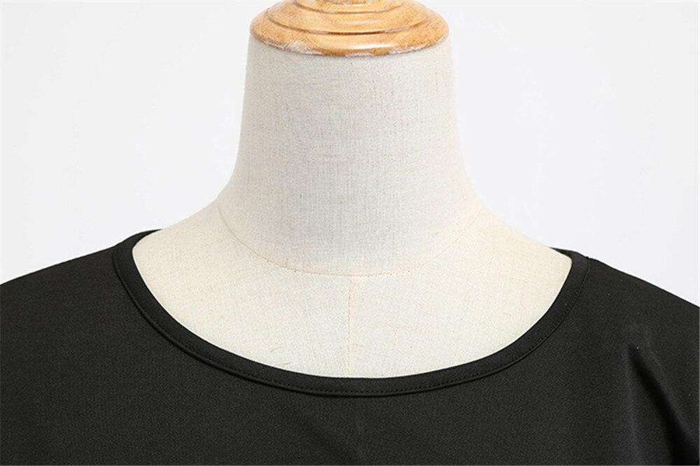 HTB1DPXuayfrK1RjSspbq6A4pFXa4 Women Summer Dresses 2019 Robe Vintage 1950s 60s Pin Up Big Swing Party Work Wear Rockabilly Dress Black Polka Dot Vestidos