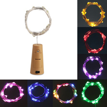 2M 20LED Cork Shaped Bottle Stopper Lampa Glas Vin Silver Koppar Wire String Lighting För Julfest Bröllopsdekoration