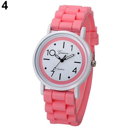 9 Colors Fashion Geneva Women Children Kids Analog Quartz Jelly Silicone Wrist Watch Gift Women Ladies Female Dress Watches saat trustfire 10440 600mah 3 7v rechargeable li ion battery black 4 pcs