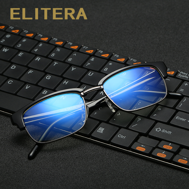 ELITERA High Quality Anti Blue Rays Fatigue Radiation-resistant Mens Eyeglasses Glasses Frame Oculos de grau Google Eyewear