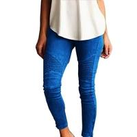 Pencil Pants Stripe Harem Slim Skinny Women Cotton Leggings High Elastic Waist Capris Summer Bandage Trousers