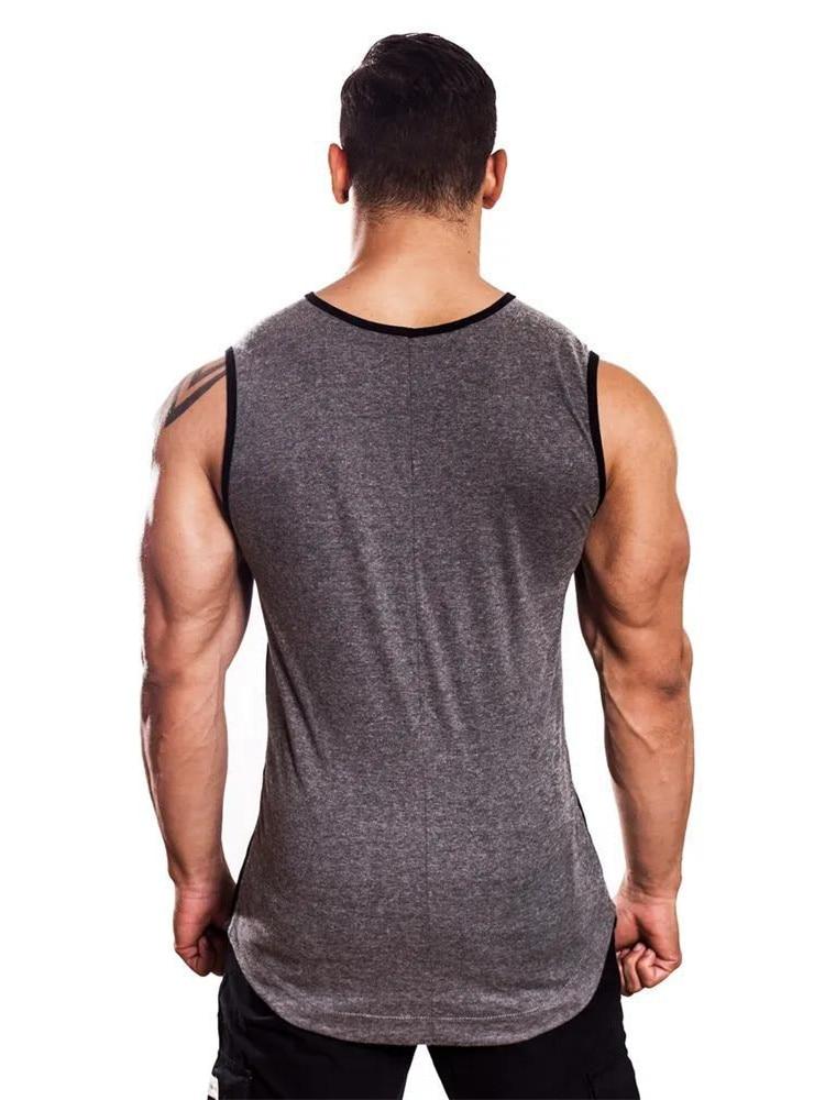 FRMARO Cotton Gym Tank Tops Men Sleeveless Tanktops For Boys Bodybuilding Clothing Undershirt Fitness Stringer workout Vest in Tank Tops from Men 39 s Clothing