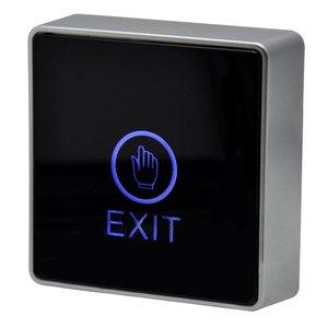 Image 3 - 黒タッチボタン12ボルトnc noドア出口リリースボタンスイッチ用アクセス制御付きledスクエアタイプ