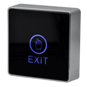 Image 3 - Black Touch button 12V NC NO Door Exit Release Button Switch For Access Control With LED Square Type