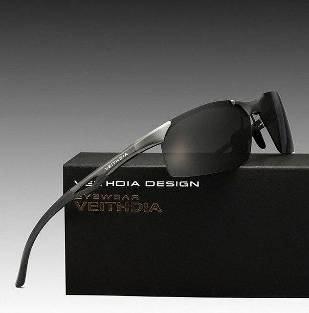 2016 brand Half frame Aluminum Magnesium Polarized Men Sunglasses semi Rimless Driving mirror male Sun Glasses Sport Eyewear