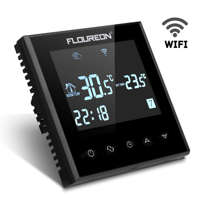 Floureon Hy03we4 Smart Wifi Lcd Touch Screen Thermostat