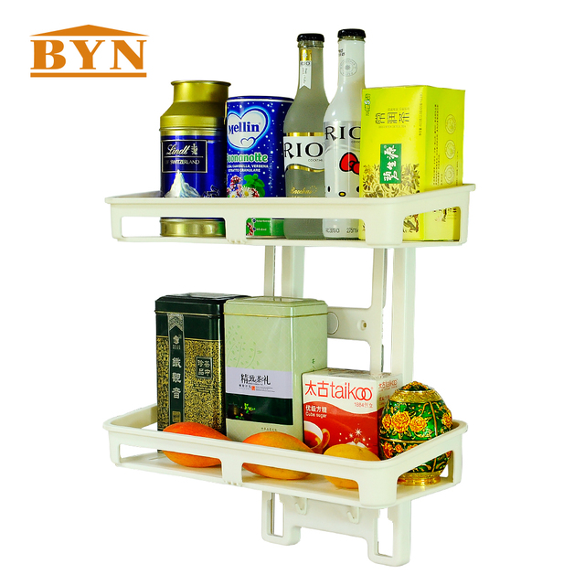 byn wall mounted kitchen suction cup caddy storage spice shelf