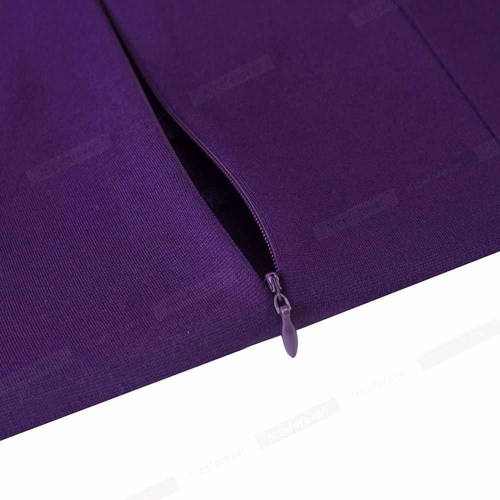 Nizza-sempre Elegante di Colore Solido Indossare al Lavoro con il Tasto abiti Peplo Ufficio Affari Del Partito Aderente Vestito Delle Donne di Autunno b542