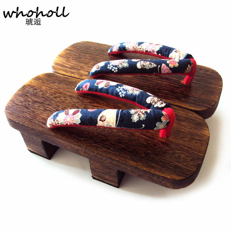 c4c5cb4423a WHOHOLL 2018 Summer New Man Sandals Japanese Geta Cos Clogs Shoes Flip-flops  Man Two