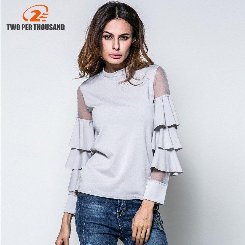 Nuevas Mujeres de La Blusa Femininas 2017 Mujeres Soporte de Cuello Camisa de La