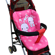 Full Cotton Baby Stroller Cushion Seat Pad Infant Cartoon Prin Diaper Mat Chair Seat Cushion For Unisex Pram Stroller Accessorie