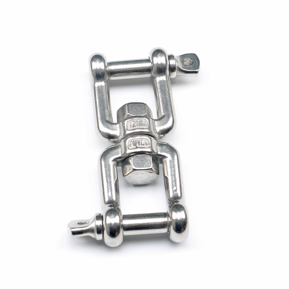 Jaw-Jaw Swivel Anchor Chain Connector Marine Grade 304 Stainless Steel Quick Release Shackle Hardware