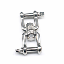 Jaw-Jaw Swivel Anchor Chain Connector Marine Grade 304 Stainless Steel Quick Release Shackle Marine Hardware marine 304 stainless steel 87mm swivel jaw snap shackle fixed bail s ring buckle of 3