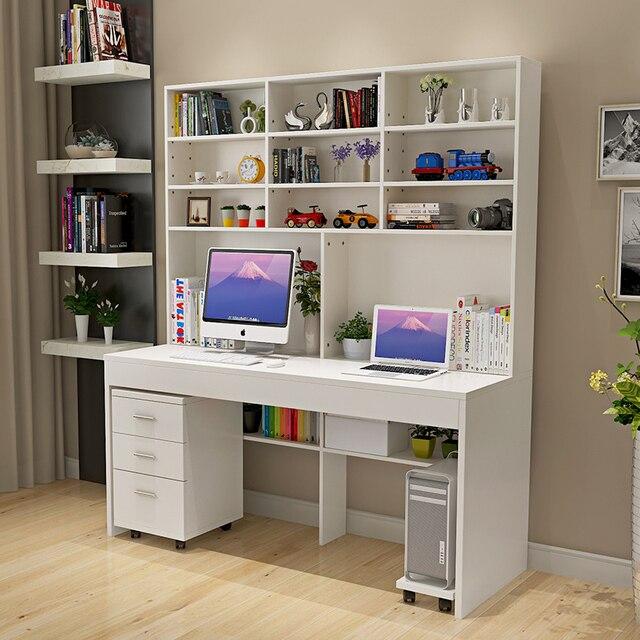 Computer Schreibtisch Mit Eine Einfache Moderne Desktop Bücherregal
