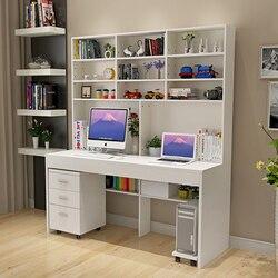 Mesa do computador com um simples e moderno quarto mesa mesa mesa estante estante desktop combinado estudantes domésticos