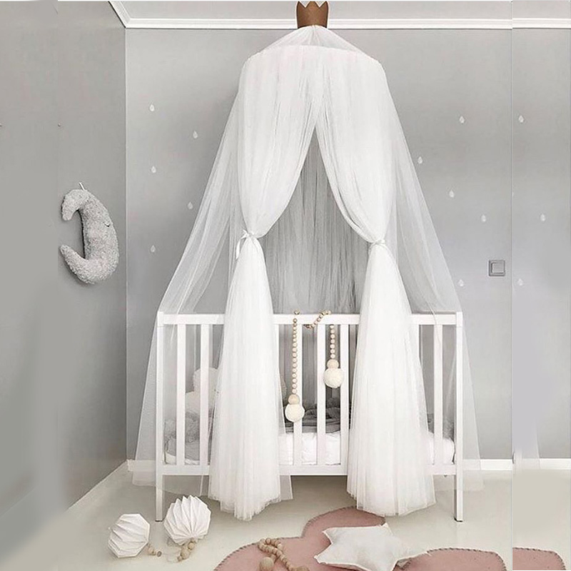 Baby Bed Mosquito Net Children Hung Dome Bed Curtain Hanging Kids Teepees For Baby Room Tipi Party Decoration Superior Quality