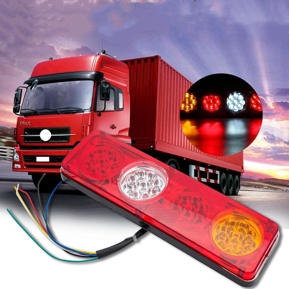 2pcs 36LED Waterproof Car Rear Tail Lights Brake Stop Light Turn Signal Light Revese Lamp For Trailer Caravan Truck Lorry 12V