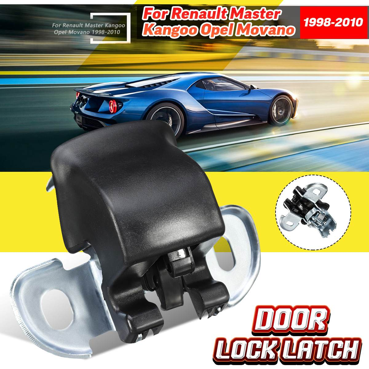 Rear Lower Door Lock Latch Catch For Renault Master Kangoo Opel Movano 1998-2010