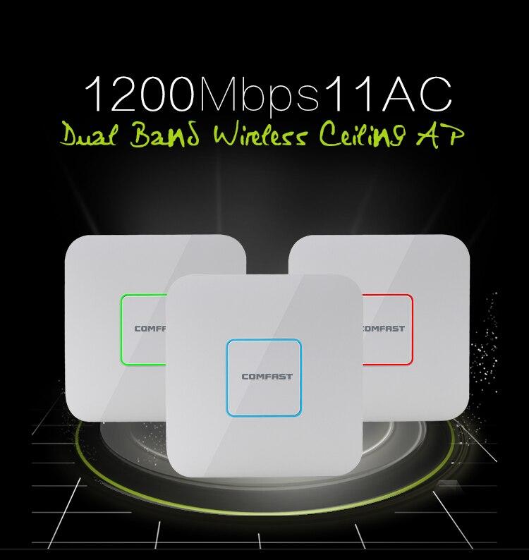 COMFAST 1200 Мбит/с двухдиапазонный беспроводной Indoor AP 2.4 г + 5.8 ГГц Wi-Fi точки доступа Маршрутизатор Range Extender усилитель сигнала CF-E355AC ...