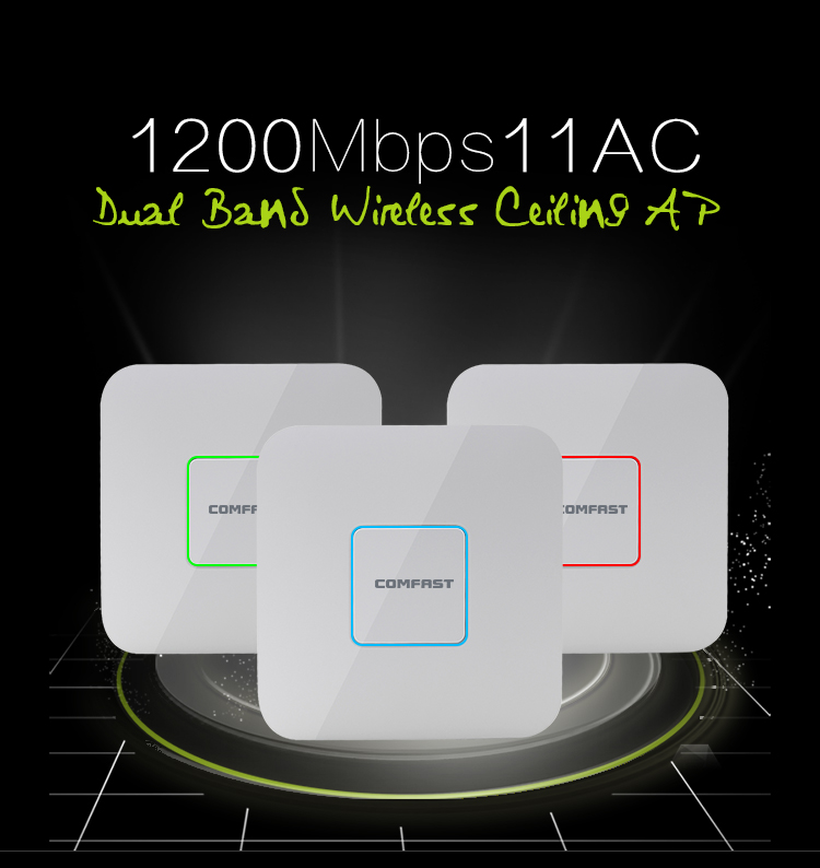 COMFAST 1200mbps Dual Band wireless indoor AP 2.4G+5.8GHz Wi fi Access Point router Range extender Signal Booster CF-E355AC ...