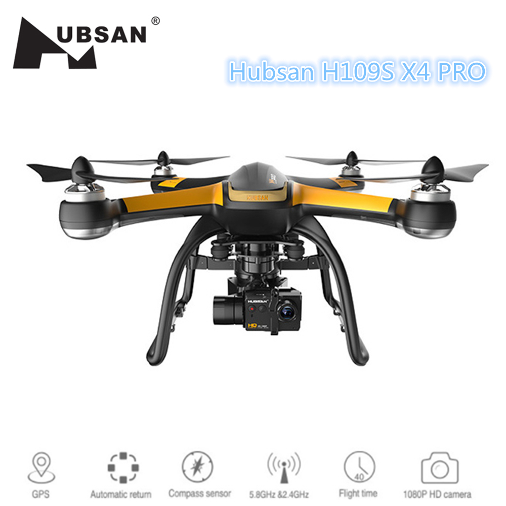 Hubsan X4 PRO H109S Professionnel GPS RC Drone Brushless 5.8g 7CH Quadcopter FPV 1080 p HD Caméra RC Hélicoptère VS Xiao mi mi drone