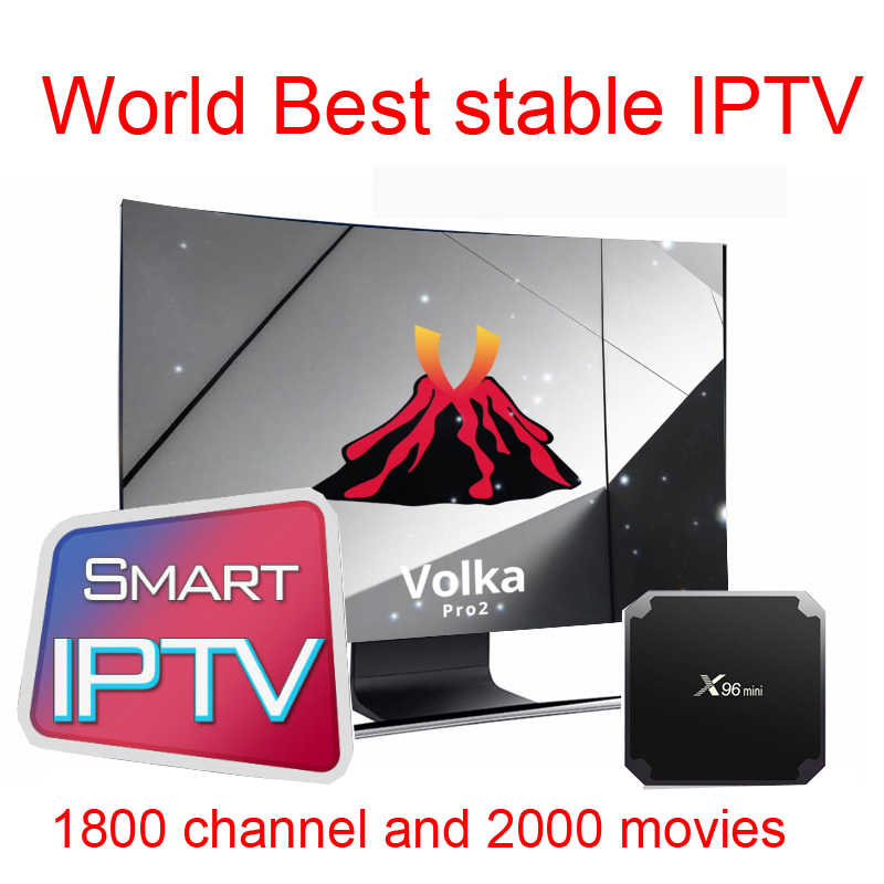 Volka Pro X96mini  android tv box  iptv subscription french arabic Italian Europe IPTV Smart tv Mag250 120 H265